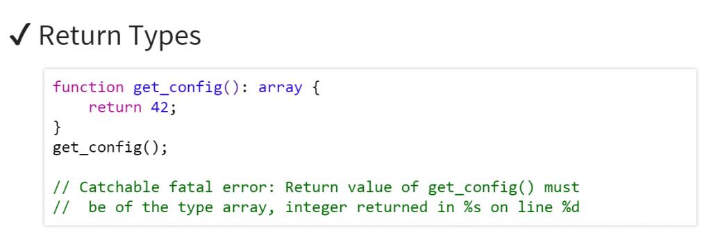 php7 return type